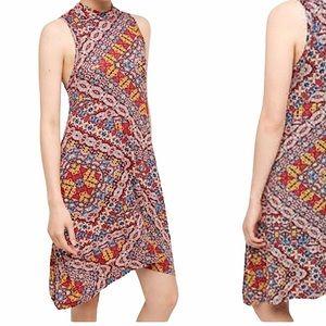 Anthropologie Maeve Lilt Red Mock Neck Dress | L